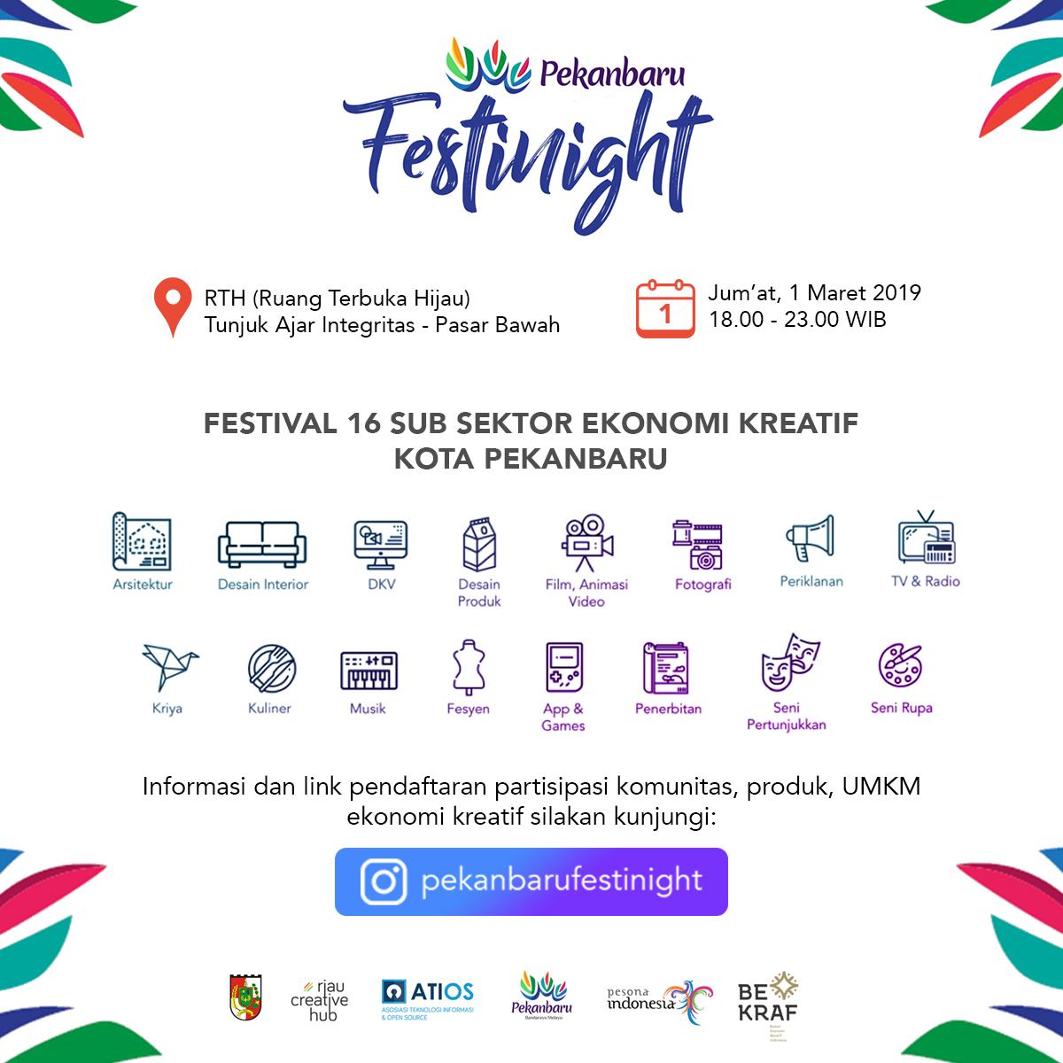 Pembukaan Pendaftaran Partisipasi Ekonomi Kreatif Pekanbaru Festinight